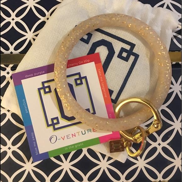 O-Venture Gold Confetti Silicone Big O Key Ring 300d9d5b86a6
